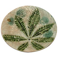 French Majolica Plate | From a unique collection of antique and modern dinner plates at http://www.1stdibs.com/furniture/dining-entertaining/dinner-plates/