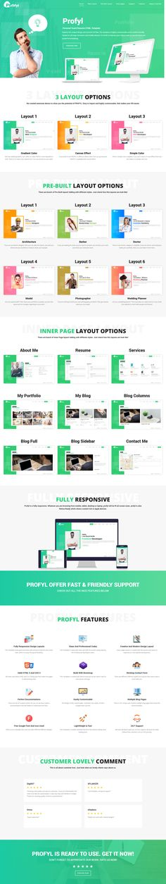 Profyl - Personal Vcard Resume HTML Template Template - different resume templates