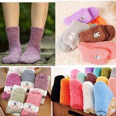 8 Styles Womens Girl Fuzzy Cozy Warm Ankle Socks Winter Casual Soft Hosiery Gift #UnbrandedGeneric #Casual