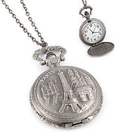 Fashion Jewelry Women's Novelty Paris France Clock Necklace The Rustic Clock Rustic Clocks, Clock Necklace, Fashion Jewelry, Women Jewelry, Grandfather Clock, Timeless Beauty, Paris France, Pocket Watch, Chain