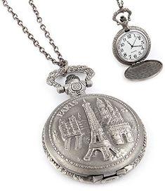 Fashion Jewelry Women's Novelty Paris France Clock Necklace The Rustic Clock Rustic Clocks, Clock Necklace, Clocks Back, Fashion Jewelry, Women Jewelry, Grandfather Clock, Timeless Beauty, Paris France, Pocket Watch