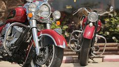Indian Chief gets two-tone paint and more! http://motorbikewriter.com/indian-victory-sturgis-motorcycle-rally/