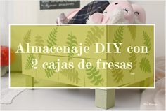 Almacenaje DIY para las zapatillas de andar por casa, con 2 cajas de fresas recicladas / Diy storage for house slippers with two recycled strawberries boxes Toy Chest, Storage Chest, Diy, House, Home Decor, Personalized T Shirts, Crafts To Make, Strawberry Fruit, Recycling