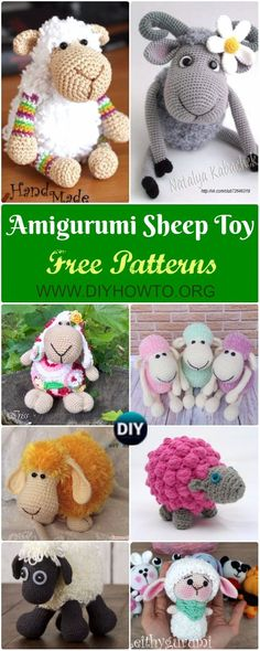 Collection of Amigurumi Crochet Sheep Toy Softies Free Patterns Tutorials: Crochet Sheep, Lamb, Goat Stuffed Toy Baby Kids Gift Ideas, Bobble Lamb, Puffy Sheep (chunky crochet amigurumi) Crochet Kids Hats, Crochet Gifts, Crochet Animals, Crochet Toys, Crochet Sheep Free Pattern, Crochet Patterns, Crochet Ideas, Chunky Crochet, Cute Crochet
