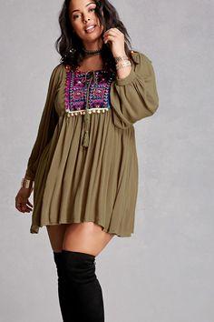 Plus Size Velzera Pom Pom Dress
