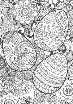 A beautiful colouring in page for adults and children this Easter #coloring #colouringin #colouring #easter