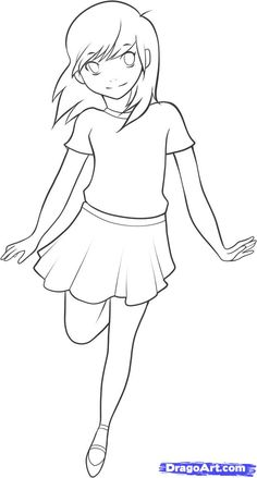 anime+step+by+step+drawing+body | How to Draw an Anime Kid, Step by Step, Anime People, Anime, Draw ...