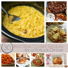 30 Best Slow Cooker Recipes for a Potluck Dinner!