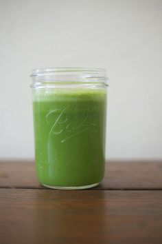 This actually sounds really good.   Summer Green Juice  celery, kale, parsley, lemon, lime, ginger, & apple   photo  by lamesablog, via Flickr