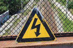 Enamel Warning Sign  Vintage Tin High Voltage Sign  by NarMag