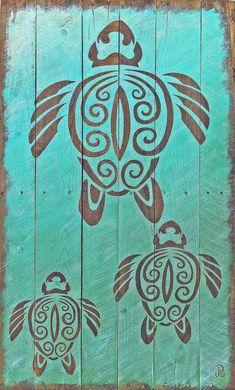 Tribal turtle art reclaimed wood art turtle wall art pallet