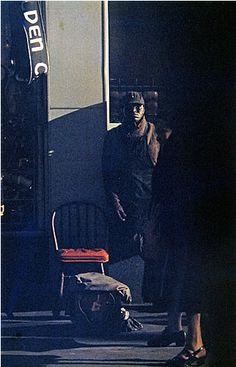 Saul Leiter. Shoeshine Man, New York, 1950