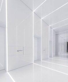 Futuristic interior - Aluminum Lobby An EnvironmentalFriendly Lobby with Futuristic Design – Futuristic interior Futuristisches Design, Lobby Design, Wall Design, Design Ideas, Futuristic Interior, Futuristic Design, Modern Interior, Interior Lighting, Lighting Design