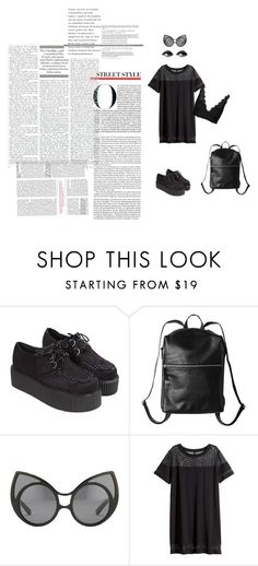 """Street Chic"" by leilachabane ❤ liked on Polyvore featuring Monki, Linda Farrow, H&M and Topshop"