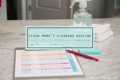 Clean Mama's Cleaning Routine - everyday a little something
