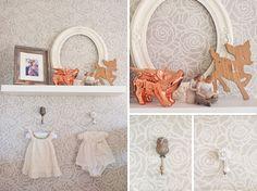 Kenley's Modern, Feminine Nursery in Coral and Gray