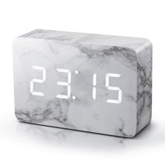 Time can be smart, clever, ultra-stylish, functional and simple with this brick marble alarm clock. This brick marble alarm clock can tell you the time, date Interior Design Minimalist, Minimalist Bedroom, Minimalist Decor, Minimalist Kitchen, Modern Minimalist, Modern Design, Minimalist Drawing, Minimalist Furniture, Design Design