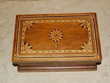 Wonderful 19th Century Parquetry Dresser/Jewelry Box, Shop Rubylane.com