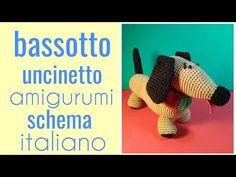 Bassotto uncinetto amigurumi schema italiano - YouTube
