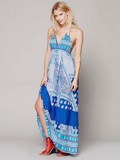 Free People Printed Halter Dress at Free People Clothing Boutique