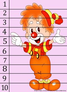 The best crafts Preschool Learning Activities, Kids Learning, Cool Numbers, Carnival Crafts, Blank Coloring Pages, Math Night, Teaching Numbers, Number Puzzles, Circus Theme