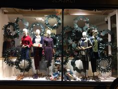 Christmas window display at Seasalt