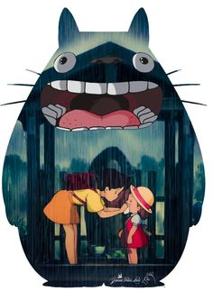 My Neighbor Totoro: I saw this movie the other day. What I loved about it, was the quiet simplicity of the world of spirits and marriage between a slice-of-life and fantasy.