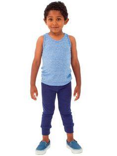 American Apparel Kids Tri-Blend Rib Legg...
