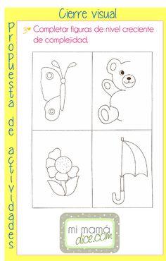 Actividades para reforzar las habilidades de Cierre visual toda la información en www.mimamadice.com
