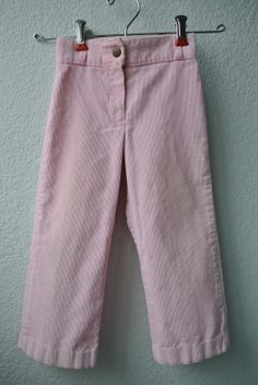 Vintage Toddler Clothes  Pink Corduroy Pants  Size 4 by NellsNiche, $12.00