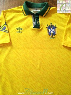 Relive Brazil's 1991/1992 international season with this vintage Umbro home football shirt.