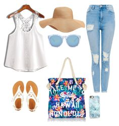 A fashion look from March 2017 featuring white lace camisole, highwaist jeans and white buckle sandals. Browse and shop related looks. Superdry, Sunny Days, Casetify, Sunnies, Charlotte Russe, Old Navy, Forever 21, Shoe Bag, Beach