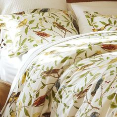 Shop spring sparrow duvet cover from Pottery Barn. Our furniture, home decor and accessories collections feature spring sparrow duvet cover in quality materials and classic styles. Linen Bedding, Bedding Sets, Chic Bedding, Bed Linens, Bedding Decor, Pottery Barn, Guest Bedroom Decor, Comfy Bedroom, Bedroom Stuff