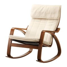 POÄNG Rocking chair, medium brown, Ransta natural Ransta natural medium brown