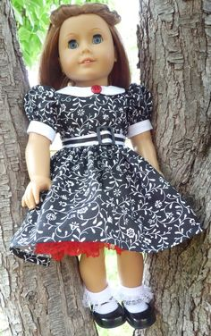 "18"" Doll Clothes 1940's-1950's Style Party Dress Fits American Girl Molly, Emily, Kit"