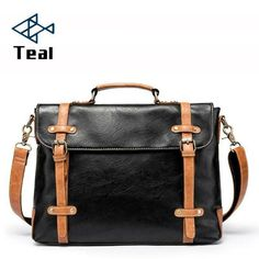 Men briefcase Leather Shoulder Bags Vintage Crossbody Bags Business office Handb Leather Shoulder Bag, Shoulder Bags, Mens Travel, Briefcase For Men, Satchel, Crossbody Bags, Moto Style, Laptop Bag, Messenger Bag