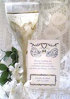 Two Graceful Swans Seed Favors $2 each (minimum 12) available from http://www.partyfavorwebsite.com/item_76/Two-Graceful-Swans-Seed-Favors.htm (located in NY)