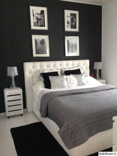 25 Black and White Bedrooms Interior Design Trends for 2019 - Home Sweet Home - Bedroom Ideas Girl Bedroom Designs, Room Ideas Bedroom, Home Decor Bedroom, Black Bedroom Decor, Bedroom Colors, Bedroom Furniture, Room Interior, Interior Design Living Room, Kitchen Interior