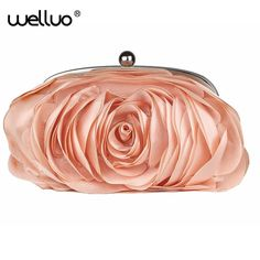 How to Sale Price US $11.45 Discount 39% Fashion Floral women Evening Bag Women Rose Flower Bride Clutch Purse Dress Party handbag Wedding Clutch Ladies chain Bag XA766B the marine way #wedding_party_dress