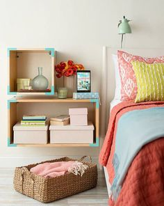 Looking for ways to organize your small bedroom? Make the most of your space with these savvy small bedroom organization ideas that bring huge impact. Small Bedroom Organization, Small Bedroom Storage, Small Space Bedroom, Small Spaces, Small Bedrooms, Organization Ideas, Storage Ideas, Storage Cubes, Small Apartments