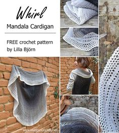 Crochet round vests (or circle jackets) can be very different. Whirl Mandala Cardigan is my own version of this beloved garment shape. Plain circle instead of lace mandala in the center gives it a cla