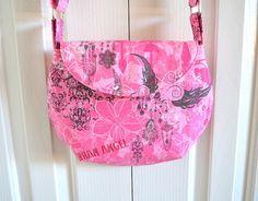 Bubblegum pink cross body bag urban angel by RobynFayeDesigns