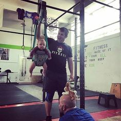 """@Regrann_App from @cowleyfitness -  Walked in on the mid-afternoon """"man"""" workout find this. #twomenandababy #betweensquatsets #yesthatsarabbitonhishead #toughguys #fittofightfire #kidsalwayswelcome ________________________________________  Want to be featured? Show us how you train hard and do work   Use #555fitness in your post.  You can learn more about us and our charity by visiting WWW.555FITNESS.ORG  #fire #fitness #firefighter #firefighterfitness #firehouse…"""
