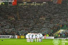 Celtic v Inter Milan, 19/02/2015. The famous Celtic Huddle.
