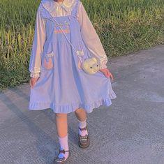 Pastel Fashion, Kawaii Fashion, Lolita Fashion, Cute Fashion, Cute Casual Outfits, Pretty Outfits, Pretty Dresses, Girl Outfits, Old Fashion Dresses