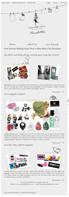 Mon Bebe Chic! Newsletter Design/Development by w3 - Web Design & Online Marketing
