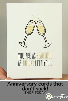 Our cards have the humor and wit you deserve. Add Memory Tag tech to upgrade any card!