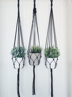 Show your plants some love with this modern macrame plant hanger. Hand-crafted in Morocco, this plant hanger will brightening up any corner of your living space. Macrame Hanging Planter, Macrame Plant Holder, Hanging Planters, Etsy Macrame, Pot Hanger, Flower Pots, Flowers, Indoor Plants, Indoor Herbs