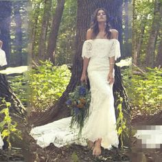 Find More Wedding Dresses Information about Boho Wedding Dress 2017 Boat neck Long Mermaid Lace Bridal Wedding Dress Vintage Spring Summer Bohemian Wedding Gowns Nice Dress,High Quality Wedding Dresses from Tanya Bridal Store on Aliexpress.com