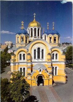 Saint Volodymyr's (St. Vladimir's) Cathedral, Kiev, Ukraine.